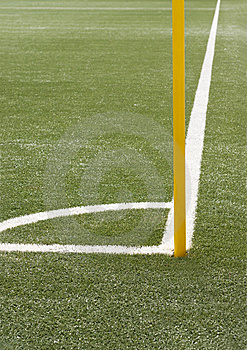 Soccer Angle With Corner Pole Stock Image - Image: 13954021