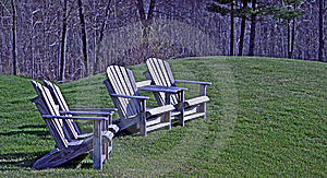 Wood Adirondack Chairs Royalty Free Stock Photo - Image: 13954035