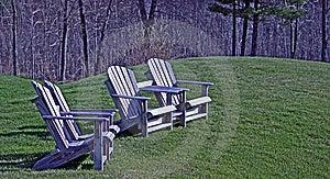 Wood Adirondack Chairs Royalty Free Stock Photo - Image: 13954035