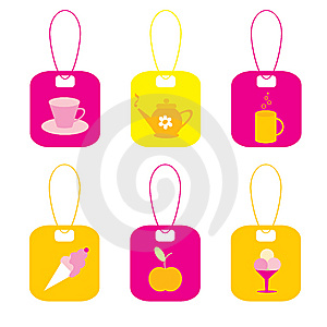The Set Of The Labels. Royalty Free Stock Photography - Image: 13955297