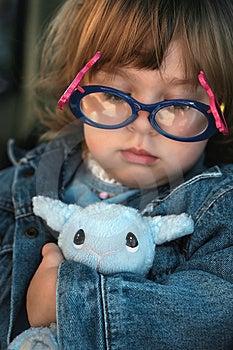 Plush Lamb Toy & Girl Stock Photo - Image: 13956150