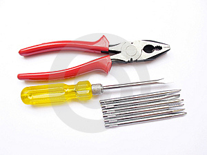 Plier And Driver Stock Photos - Image: 13956853
