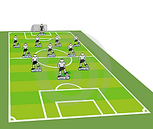 Soccer Team Tactical Scheme. Stock Photo - Image: 13957390