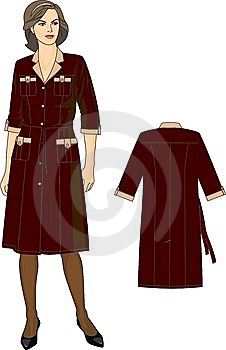 The Woman In A Dressing Gown Stock Photo - Image: 13960660