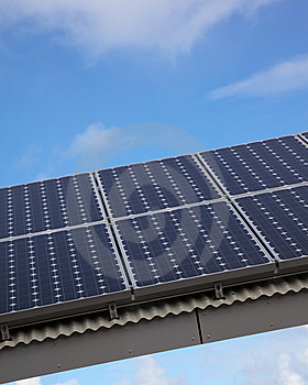 Solar Panel Against Blue Sky Royalty Free Stock Photo - Image: 13961475