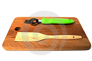 Hardboard, Trowel, Opener A Side View Stock Photos - Image: 13962163