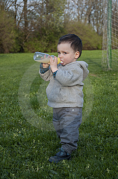 Child Drinking Royalty Free Stock Photo - Image: 13962655