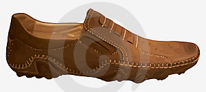 Casual Contemporary Leather Shoes Brown Color Stock Photo - Image: 13963400