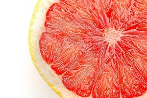 Pink Grapefruit Slice Royalty Free Stock Images - Image: 13965099