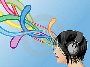 Headphone Girl Royalty Free Stock Photos - Image: 13965828