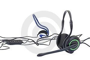 Black Headphones Isolated On White Background Stock Image - Image: 13966501
