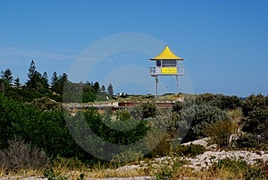 Surf Lifesaving Tower Royalty Free Stock Image - Image: 13966786