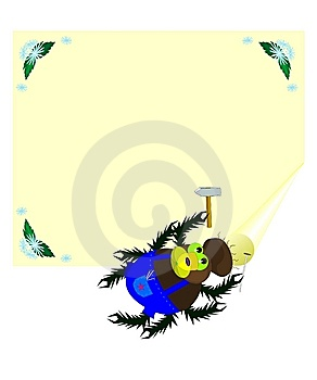 Spider And Banner Royalty Free Stock Images - Image: 13966969