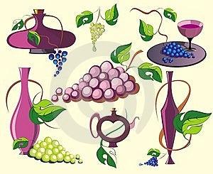 Design  Wine Elements Royalty Free Stock Photo - Image: 13968115