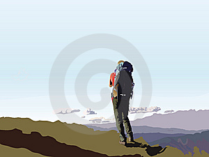 On The Mountain Top Royalty Free Stock Image - Image: 13969046