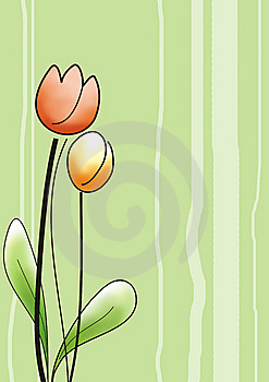 Tulips Greeting Card Royalty Free Stock Photo - Image: 13972015