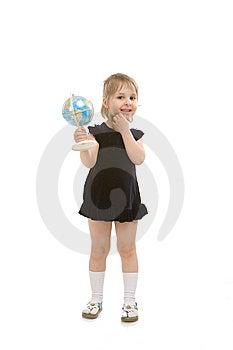 Child White A Globe Stock Photography - Image: 13972072