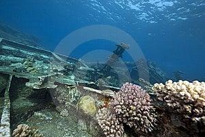 Wreck Freighter Kormoran - Sank In 1984 Tiran Royalty Free Stock Photo - Image: 13973415