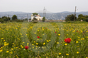 Church In A Meadow Stock Photography - Image: 13973972