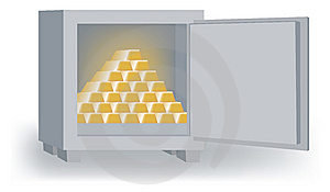 Open Safe With Gold Bars Stock Photography - Image: 13976622