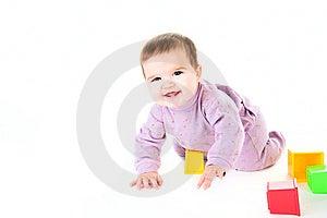 Happy Baby With Bricks Stock Photos - Image: 13977183