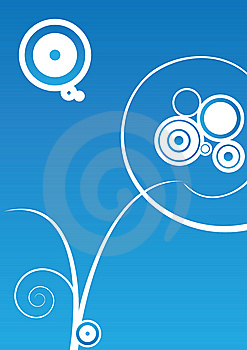 Vignette On Aqua Background Royalty Free Stock Photography - Image: 13977237
