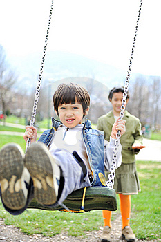 Cute Positive Kid Royalty Free Stock Image - Image: 13978216