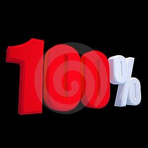 Hundred Percentage Stock Images - Image: 13979144