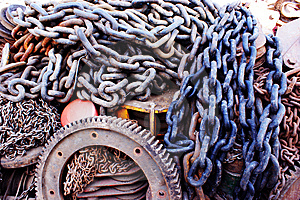 Gears And Chains Royalty Free Stock Photo - Image: 13979585