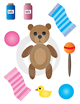 Baby And Nursery Items Royalty Free Stock Image - Image: 13979856