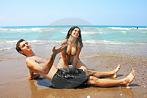 Teens On Beach Stock Photography - Image: 13980672