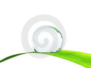 Waterdrop On A Blade Of Grass. Stock Photography - Image: 13981452