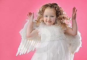 Beautiful Little Angel Girl I Royalty Free Stock Photography - Image: 13981717