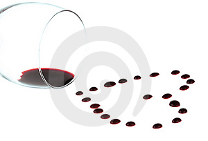 Heart Shape From Red Wine Drops Stock Photography - Image: 13982562