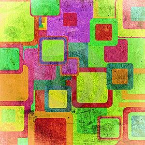 Squares On The Grunge Stock Image - Image: 13983801