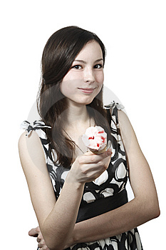 Girl With Ice Cream Royalty Free Stock Photos - Image: 13983908
