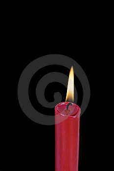 Red Candle Royalty Free Stock Photography - Image: 13984987