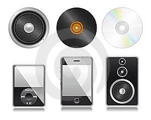 Set Of Media Elements For Web. Stock Photo - Image: 13986100