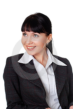 Charming Young Woman In A Dark Business Suit Royalty Free Stock Image - Image: 13987626