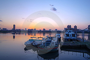 Sunset At The Harbor Royalty Free Stock Photography - Image: 13988137
