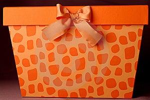 Orange Gift Box Royalty Free Stock Photography - Image: 13989947