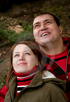 Married Couple Looking Up Stock Photography - Image: 13990652
