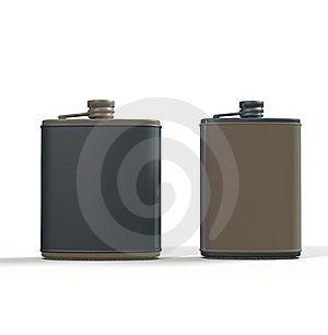 Hip Flasks Stock Images - Image: 13990894