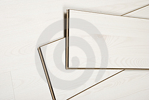 White Laminate Flooring Stock Photo - Image: 13993370