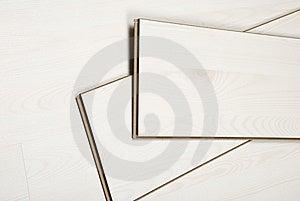 White Laminate Flooring Stock Photo - Image: 13993370
