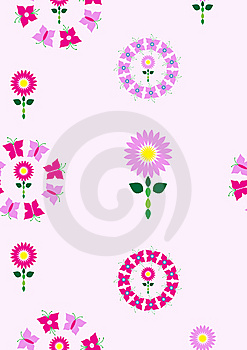 Floral Pattern In Pink And Purple Tones Stock Images - Image: 13996514