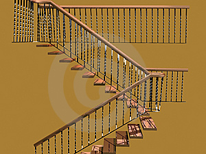 Staircase Of White Oak Royalty Free Stock Photos - Image: 13998168