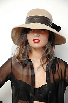 Woman In Hat Free Stock Photos
