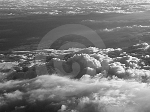 Over The Clouds B&w Stock Photography