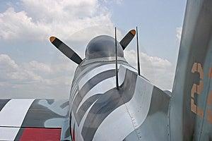 Fuselage du coup de foudre P-47 Photographie stock